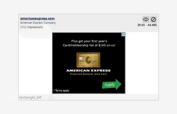 Ad preview example